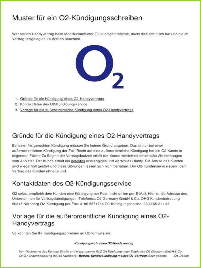 Muster Fuer Ein o2 Kuendigungsschreiben 3273 Ooy70f O2 Widerruf Vorlage – Kündigung Handyvertrag O2