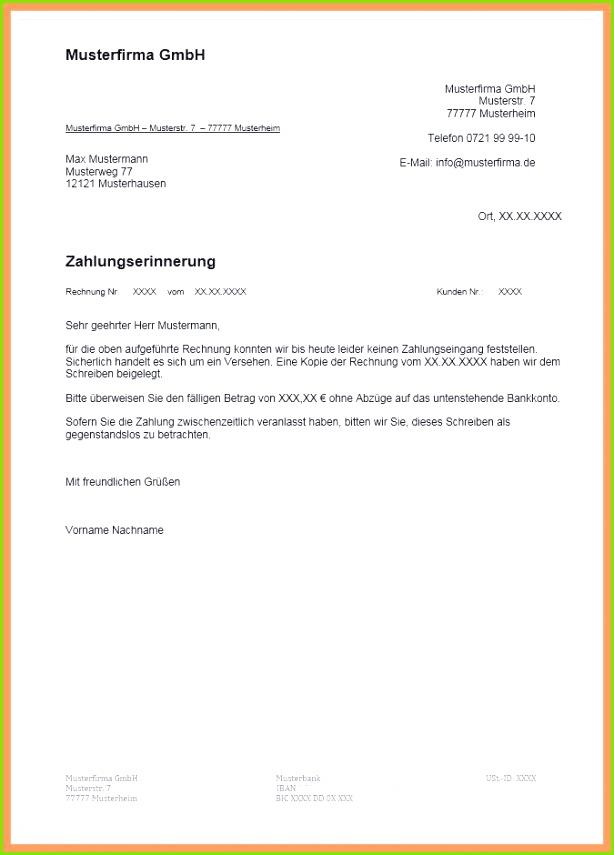Kündigung Bankkonto Vorlage Word 1 Zahlungserinnerung Vorlage