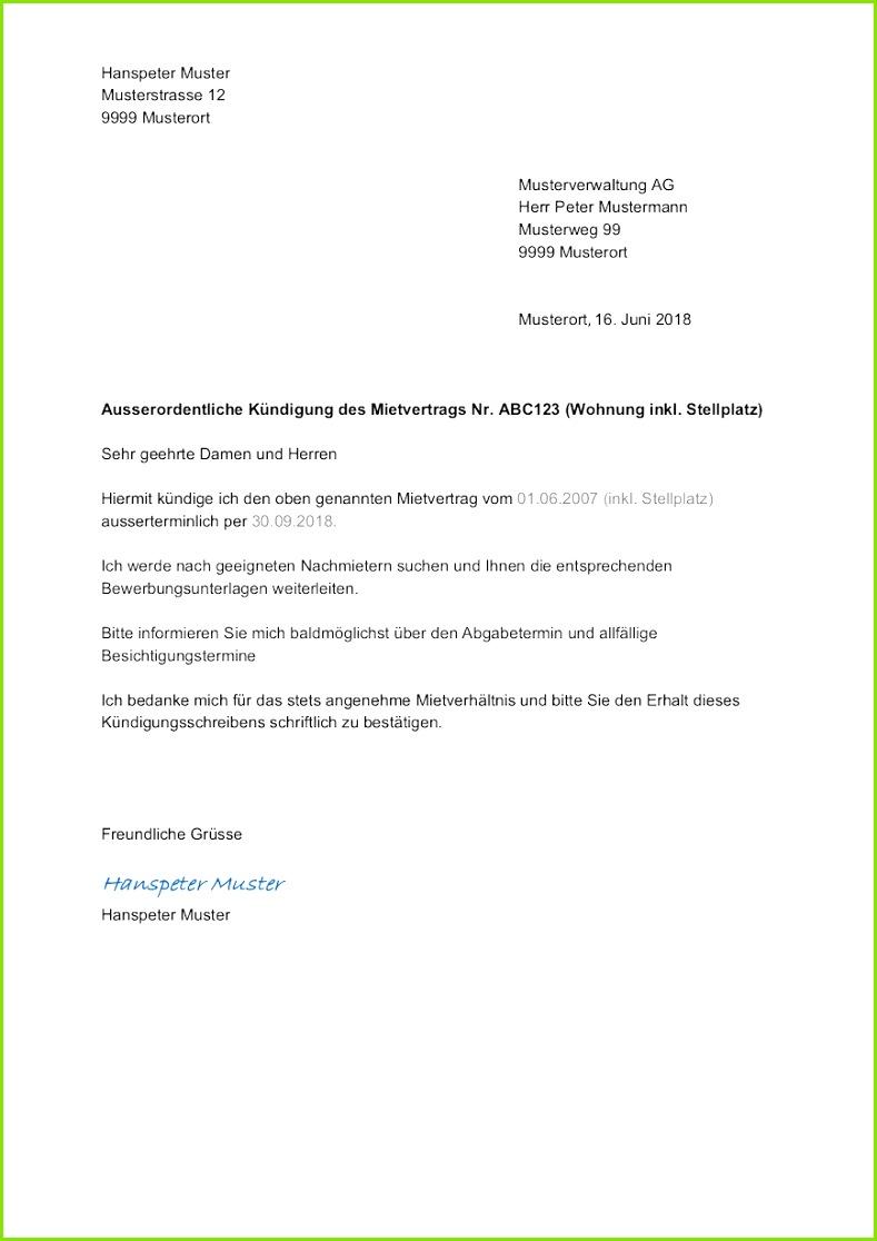 Kündigung Word Vorlage Schön Wohnung Kündigen Muster Vorlage Für Kündigung Mietvertrag
