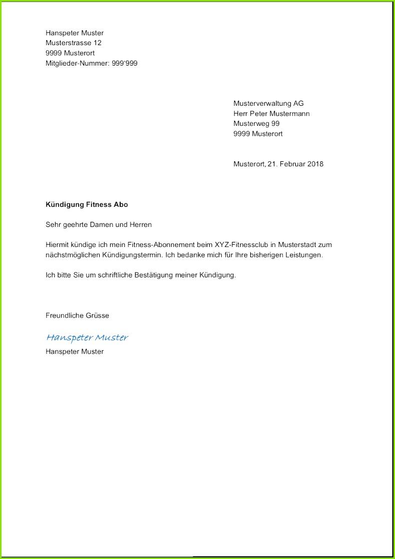Muster Kundigung Vertrag schriftliche kündigung wohnung vorlage süß vorlage kündigung für job