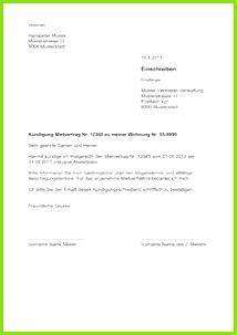 Vorlage Kündigung Wohnung Mietvertrag Schweiz gratis Download ✓ Mietverhältnis korrekt kündigen Fristgerecht