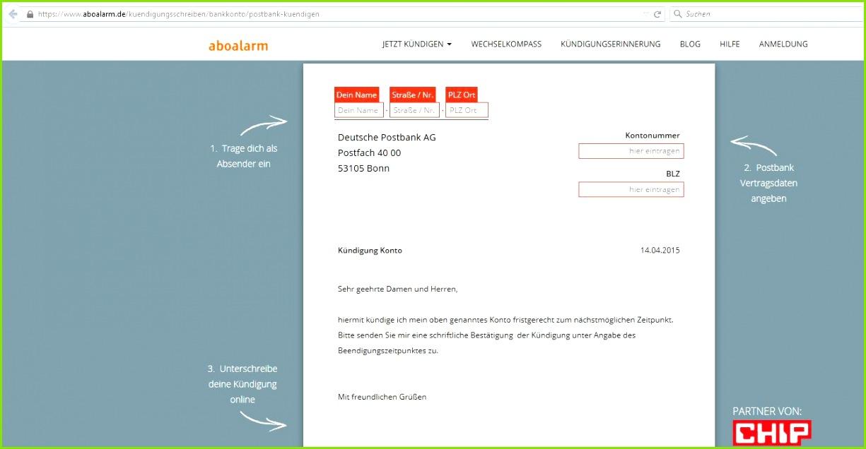Dazu setzen Sie ein formloses Schreiben mit folgendem Text auf Tipp Sie können auch ein vorgefertiges Formular von Aboalarm