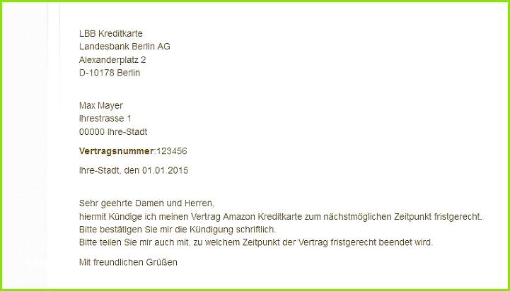 Kündigungsschreiben Postbank Vorlage Erstaunlich Kreditkarte Kündigen Mit Mustervorlage so Geht S