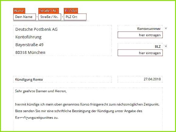 Kündigungsschreiben Postbank Vorlage Bewundernswerte Kündigung Postbank Vorlage Download Chip