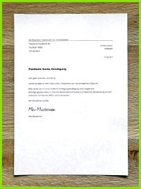 Postbank Kündigungsschreiben