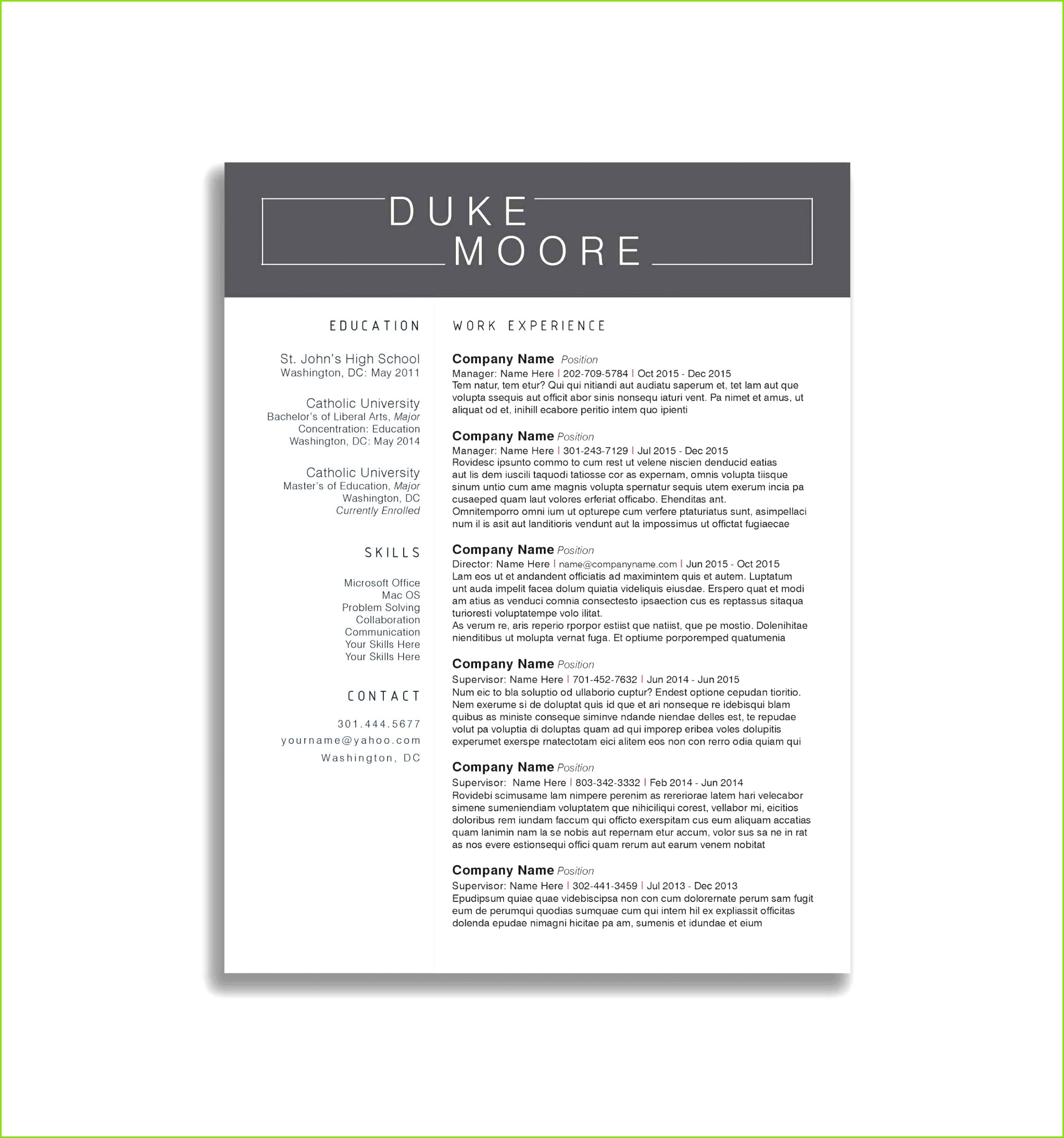 Cover Letter Layout Template 2018 Lebenslauf Download Word Schön Cover Letter In Word Format