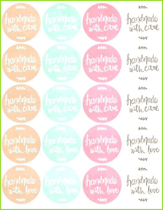 Free Printables HandDrawn labels for Handmade goods