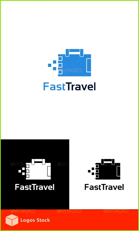 Fast Travel Logo Template — shop PSD template quick • Available here → s
