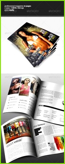 Professional Magazine Template Print Templates Layout Template Print Magazine Magazine Design Shops