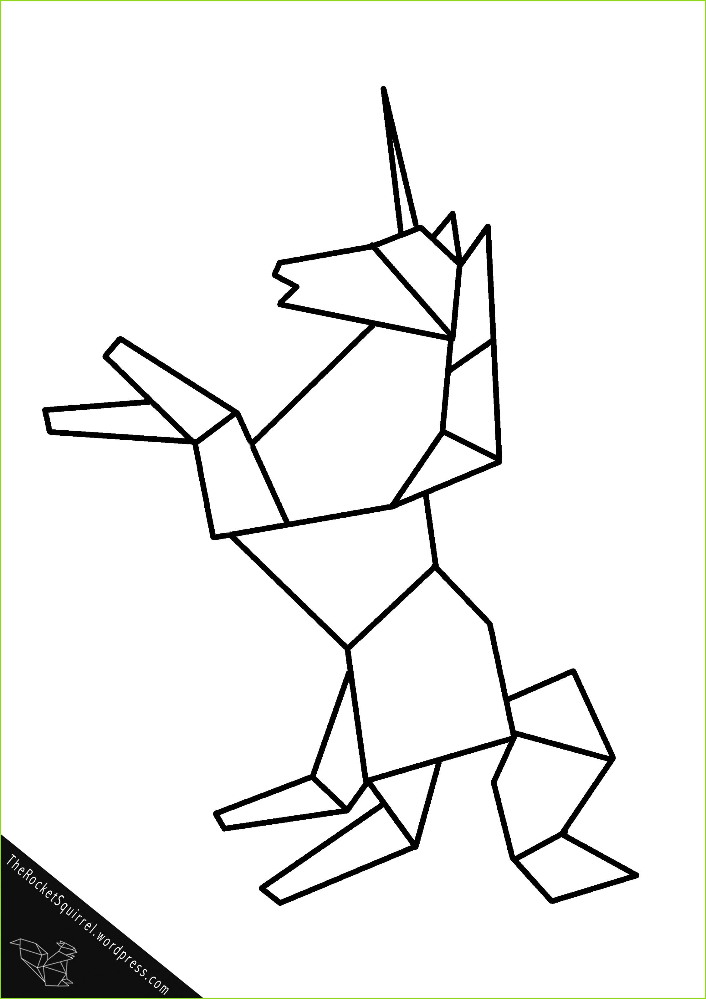 Origami Einhorn Druckvorlage A4 Einhorn Zeichnen Einhorn Malen Bilder Zeichnen Malen Und Zeichnen