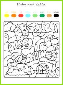 Ausmalbild Malen nach Zahlen Ostereier ausmalen kostenlos ausdrucken