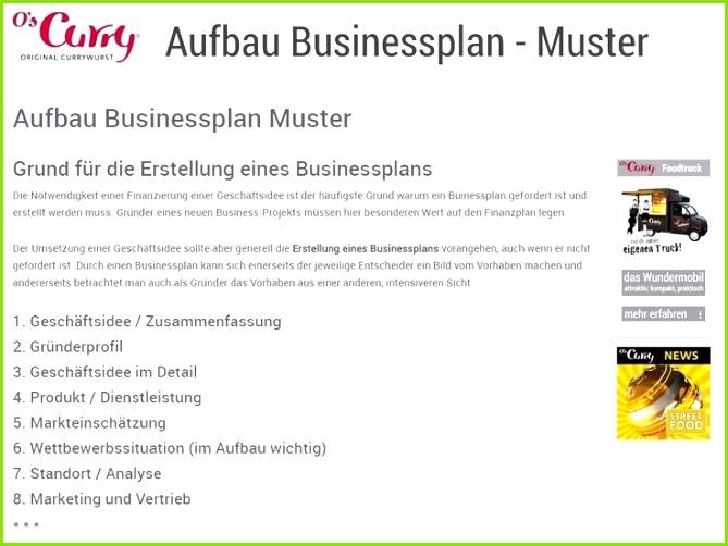 Aufbau Businessplan Muster Grund für Erstellung eines Businessplans Die Notwendigkeit einer Finanzierung einer Geschäftsidee ist