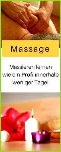 Massage lernen Massageöl selber machen Massage Rücken Massage Gutschein Babymassage massieren