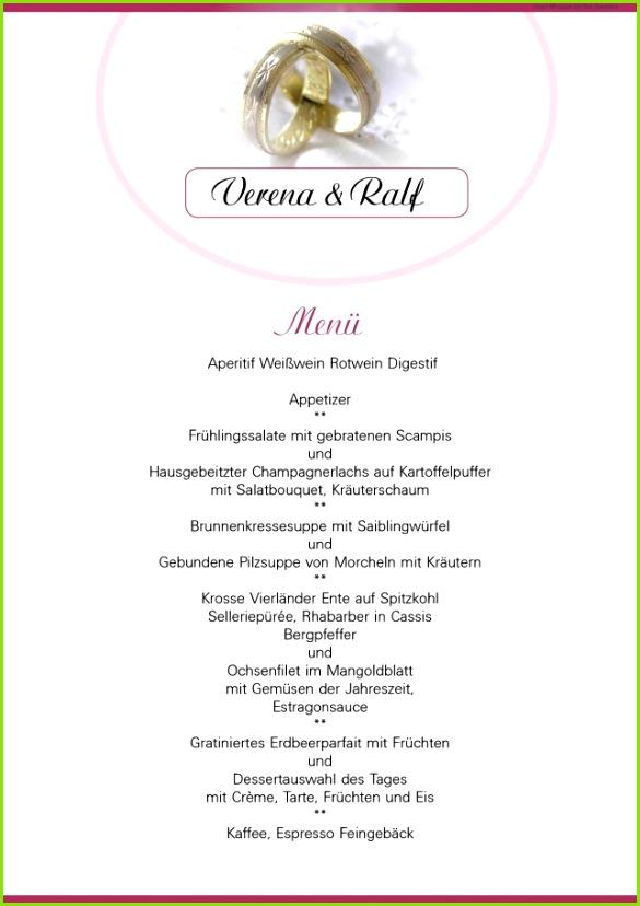Wunderbar Von Menukarte Hochzeit Vorlage Speisekarte Word Einzigartig Menükarte