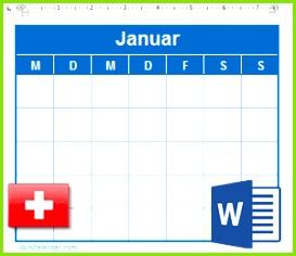 Kalender mit CHE Feiertagen 2018