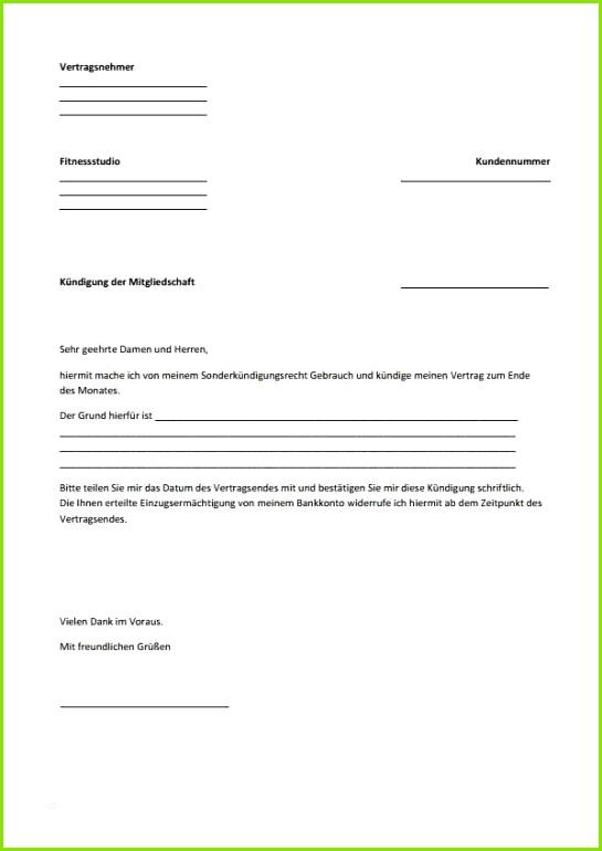 Kundigung Mcfit Email mietkündigung vorlage inspiration 17 mc fit kündigung vorlage