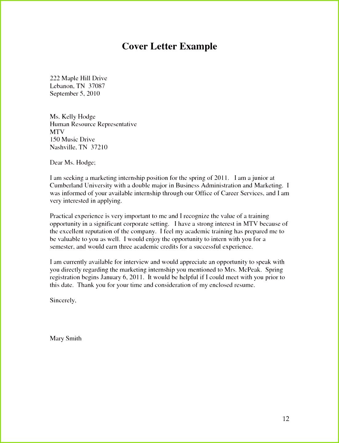 Briefing Marketing Vorlage Einzigartig Cover Letter Examples for Internship Beautiful Job Letter 0d Designuaukyu gzj