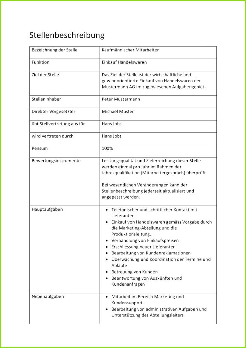 Stellenbeschreibung Vorlage Gratis Word Vorlage Muster Vorlagech Mitarbeiterbeurteilung Vorlage Excel