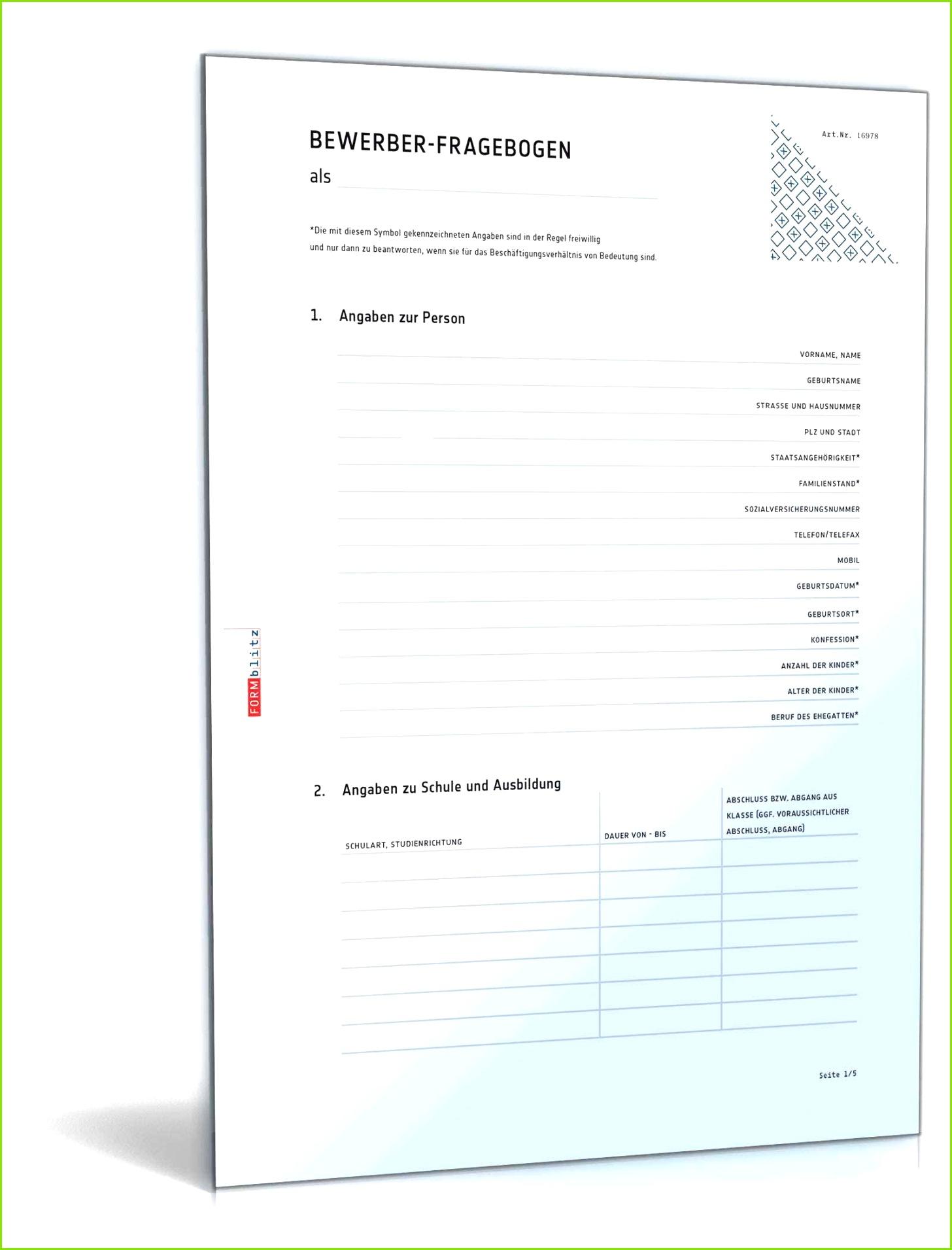 20 fragebogen vorlage word 2010