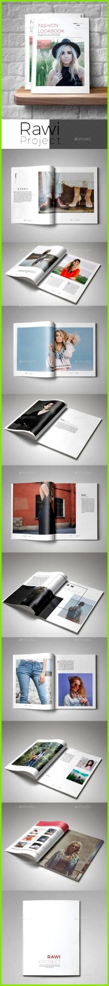 Fashion Lookbook Template InDesign INDD best Graphic Design