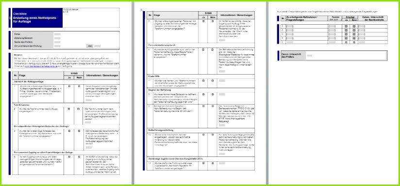 betriebssicherheitspraxis Rechtssichere Vorlagen und Nachweisdokumente zur Umsetzung der Betriebssicherheitsverordnung Erstellung eines Notfallplans