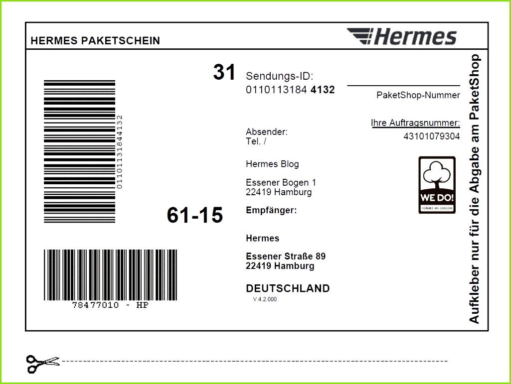 line Paketschein Hermes Blog bezüglich Beste Paketaufkleber Vorlage Kostenlos