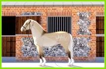 Pferde Muster Scheren Esel