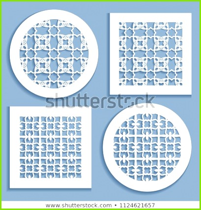 Templates for laser cutting plotter cutting printing Round and square line patterns
