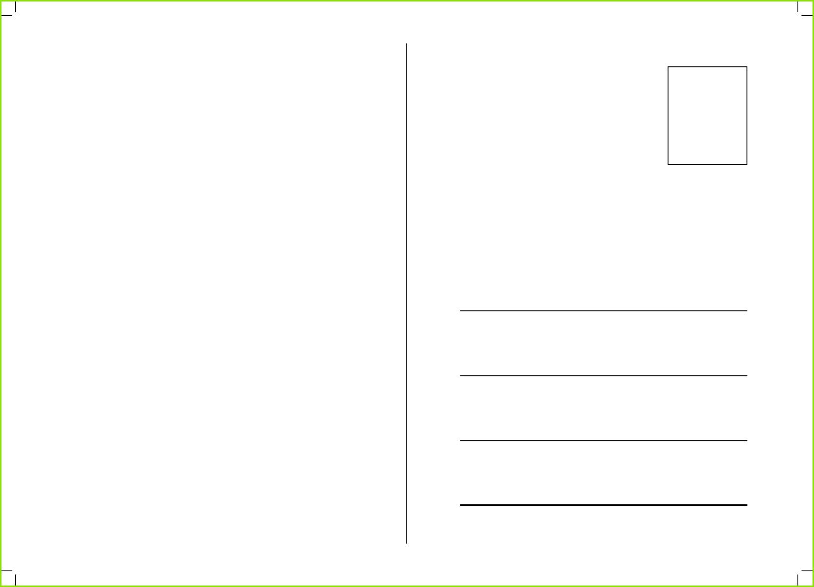 Download kostenlos Vorlagen zum selbst Gestalten von Postkarten