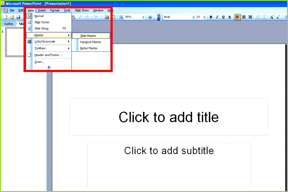 How to View the Slide Master in PowerPoint