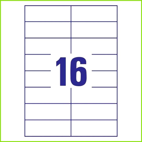Universal Etiketten 105 x 37 mm 16 pro Bogen