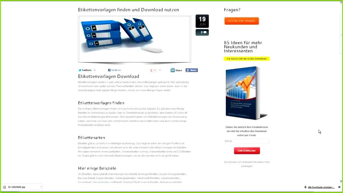 Etikettenvorlagen als Download