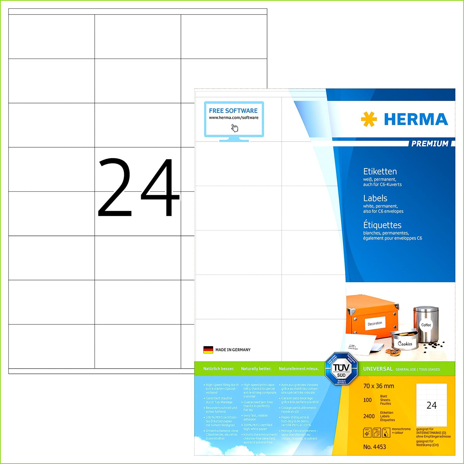 PREMIUM Etiketten A4 70 x 36 mm weiß permanent haftend