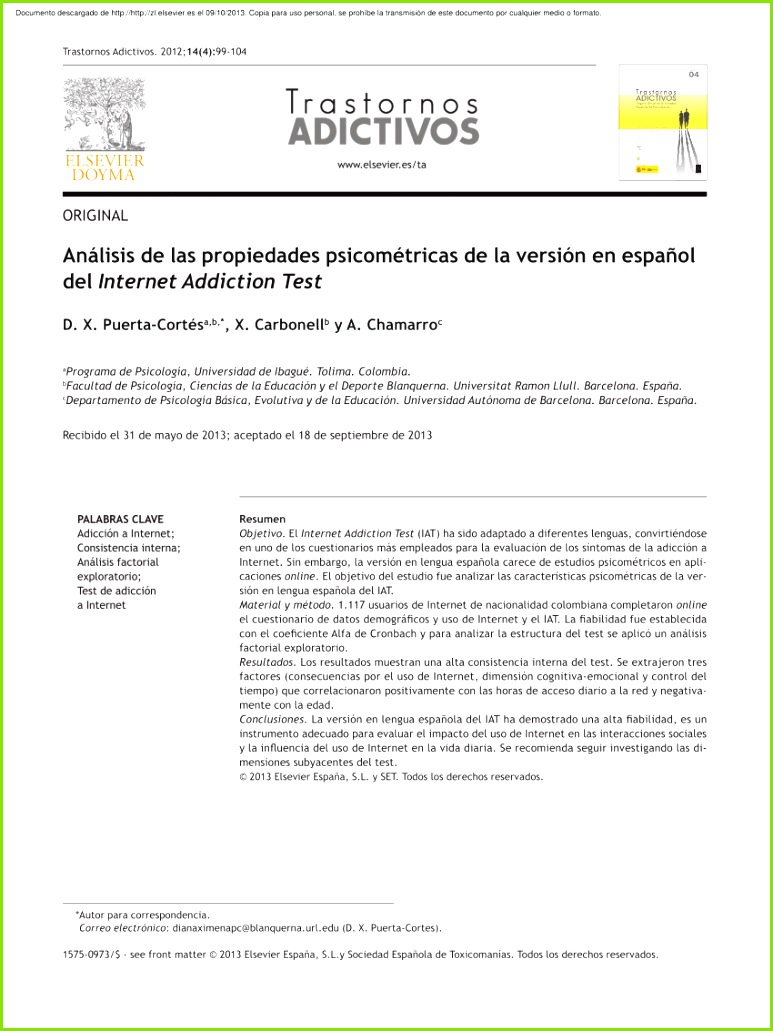 The measurement of Internet addiction A critical review of existing scales and their psychometric properties