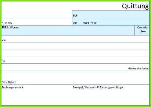 Quittung Vorlage Muster Beispiel für Excel Word PDF en