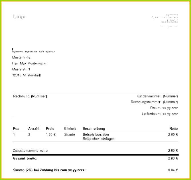 Vorlage Rechnung Privat Rechnung Schreiben Ohne Gewerbe Muster Beispiel Prof M School 6 0d