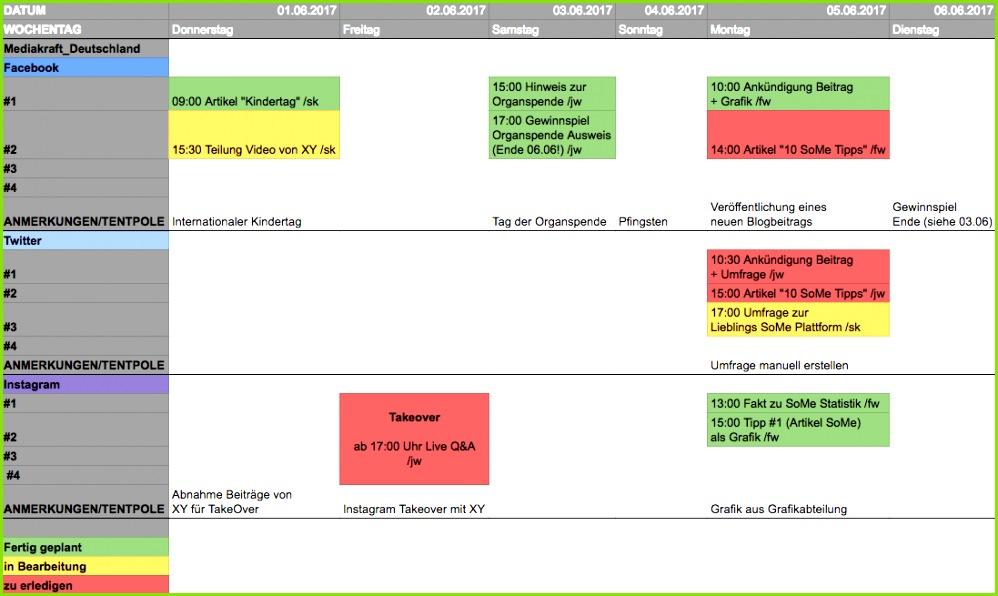 So erstellt ihr einen social media redaktionsplan mediakraft consulting blog for Mediaplan vorlage