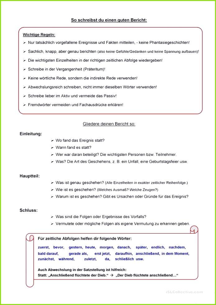 Schön Bericht Schreiben Vorlage Wort Zeitgenössisch Entry Level