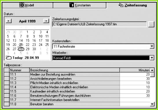 Abbildung 2 Zeitaufnahme mit LibraryManager von Ceynowa Coners