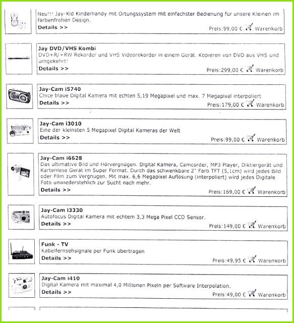 Die Beklagte warb am 9 September 2005 im Internet für diverse Waren ihres Sortiments in der