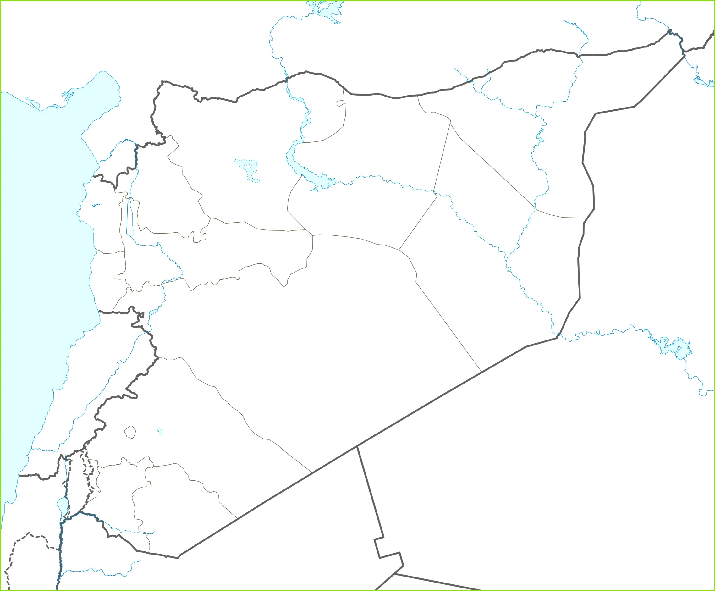 Syrian Civil War detailed map is located in Syria