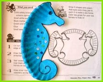 Seepferd Seepferdchen aus Pappteller basteln mit Kindern We are making these adorable sea horses & some sea shells tonight to go with the VBS decorations