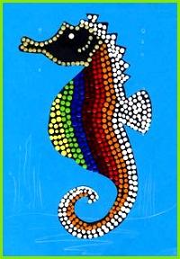 Seepferdchen mit Dot Painting