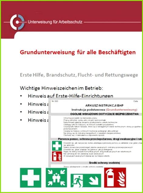 Grundunterweisung Paket Unterweisung deutsch polnisch