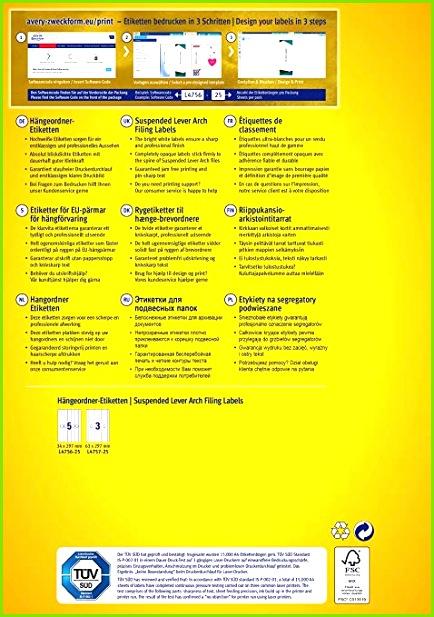 AVERY Zweckform L4757 25 Hängeordner Etiketten A4 75 Stück 63 x 297 mm 25 Blatt weiß Amazon Bürobedarf & Schreibwaren