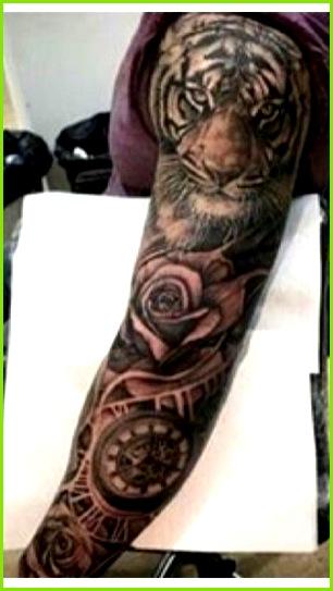 Clock Tattoo Sleeve Animal Sleeve Tattoo Sleeve Tattoo For Guys Mens Arm Sleeve