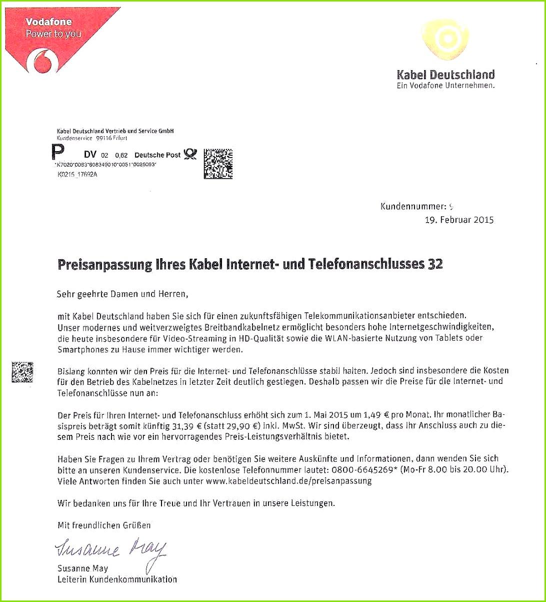 Sonderkündigung Dsl Zu Langsam Vorlage Großen Kabel Deutschland Außerordentliche Kündigung Vorlage
