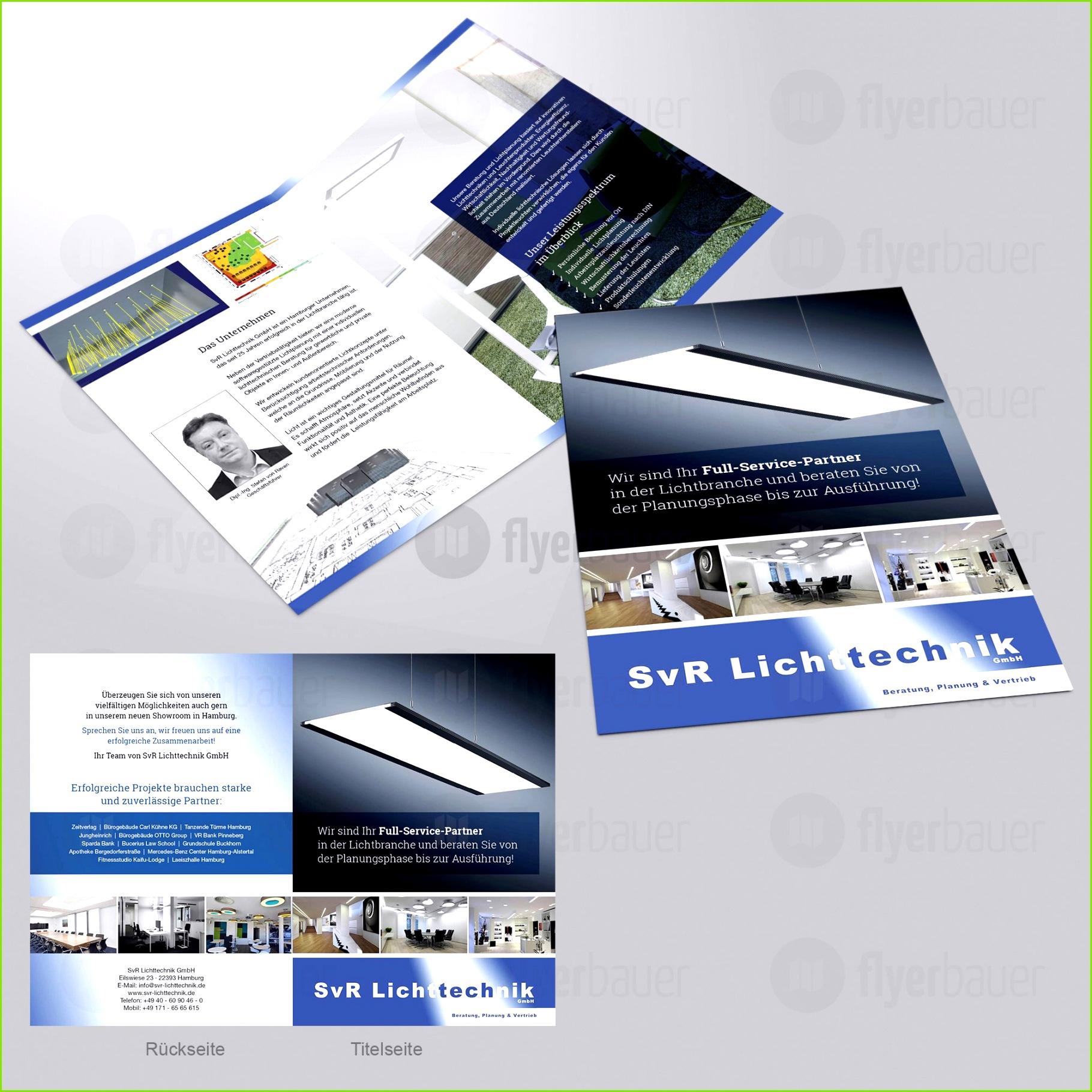 Design 17 von flyerbauer Imagebroschüre für ein Handelsunternehmen 4 od Broschüre – Sponsorenmappe Vorlage
