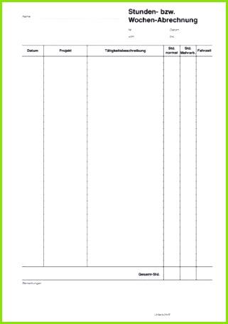 Stundennachweis Vorlage Gratis Download Beschreibung Stundennachweis Muster