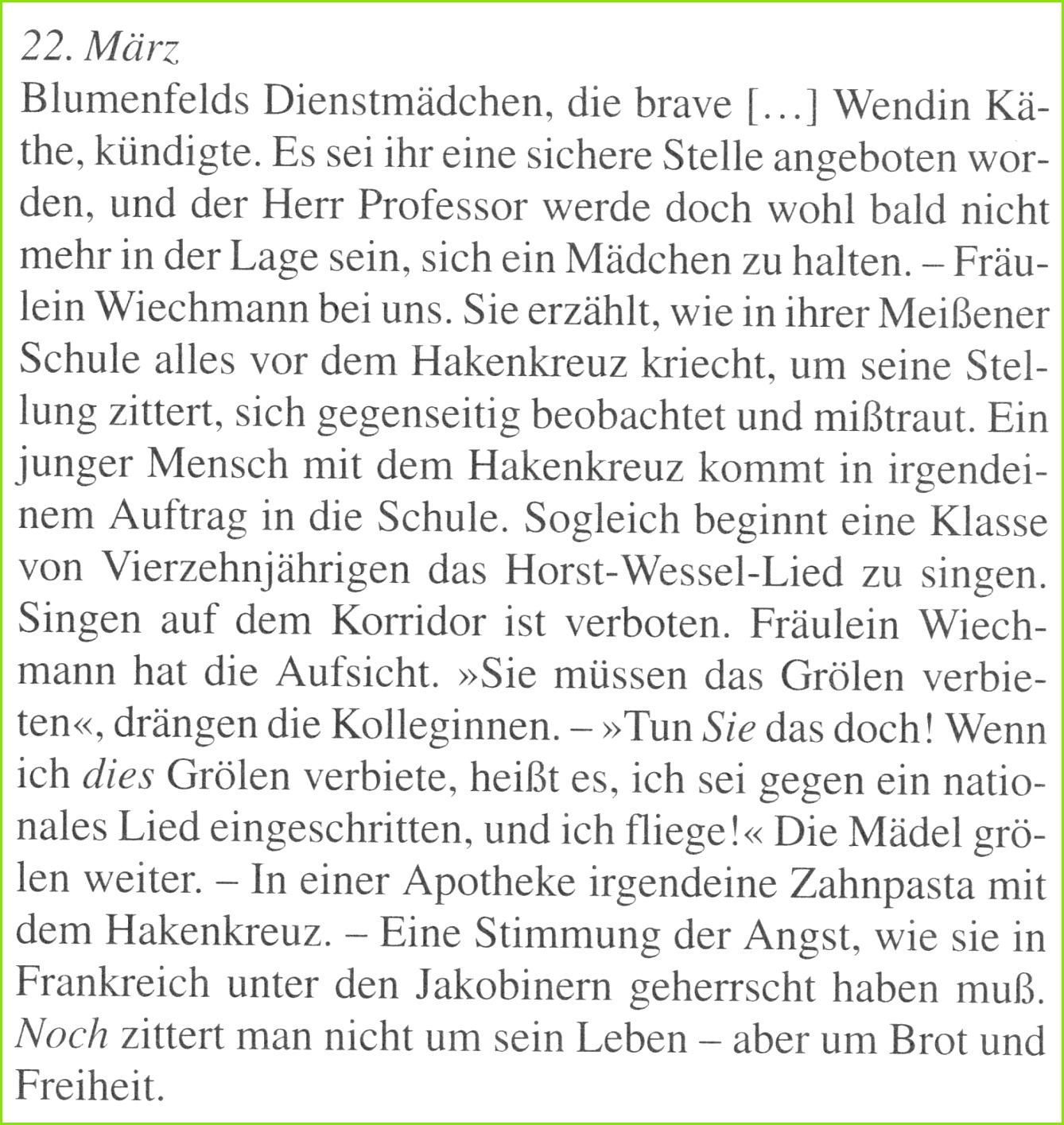 Klemperer Tagebuch 14 22 3 1933